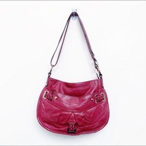 B. Makowsky burgundy leather crossbody bag